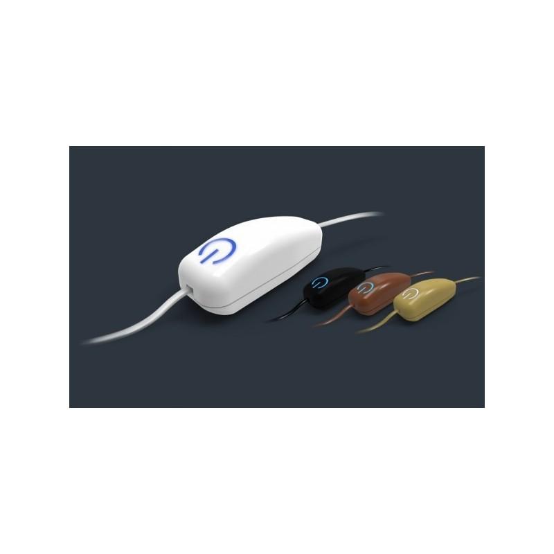 Interruptor SWIID para insertar en cable de lampara color marrón Z-Wave