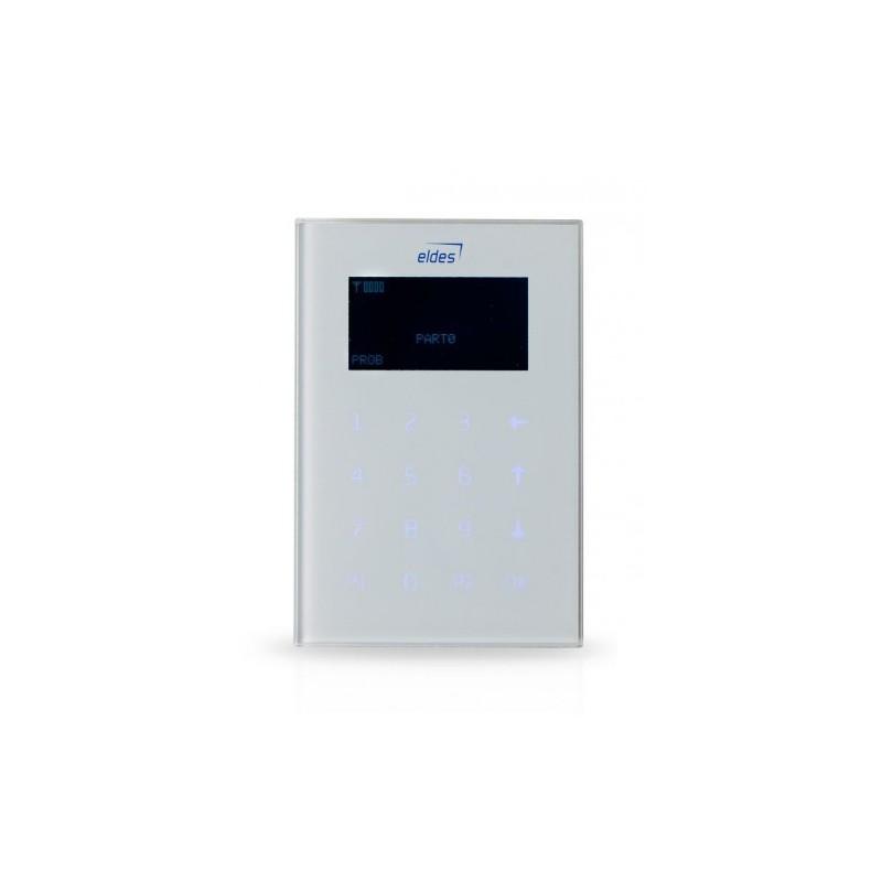 Teclado táctil LCD cableado blanco de Eldes EKB2