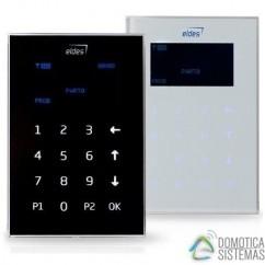 Teclado LCD cableado blanco de Eldes EKB2