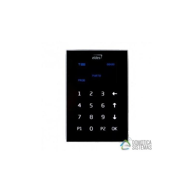Teclado táctil LCD cableado negro de Eldes EKB2