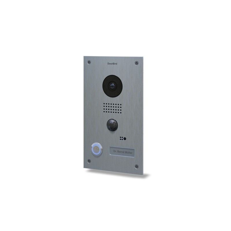 Videoportero WIFI / IP Doorbird empotrable edición plata conectado a internet D202