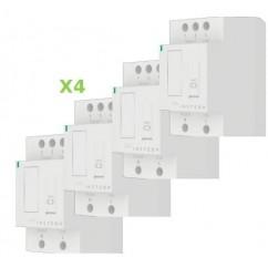 Pack 4x Insteon Módulo con regulación para carril Din en cuadro eléctrico. DIN Dim