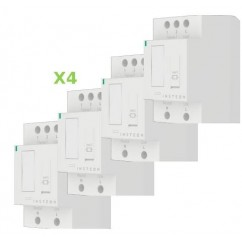 Pack 4x Insteon Módulo On-Off para carril Din en cuadro eléctrico. DIN Relay