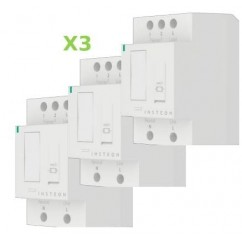 Pack 3x Insteon Módulo On-Off para carril Din en cuadro eléctrico. DIN Relay