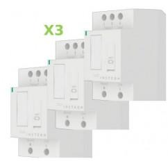Pack 3x Insteon Módulo con regulación para carril Din en cuadro eléctrico. DIN Dim