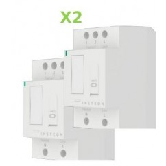 Pack 2x Insteon Módulo con regulación para carril Din en cuadro eléctrico. DIN Dim