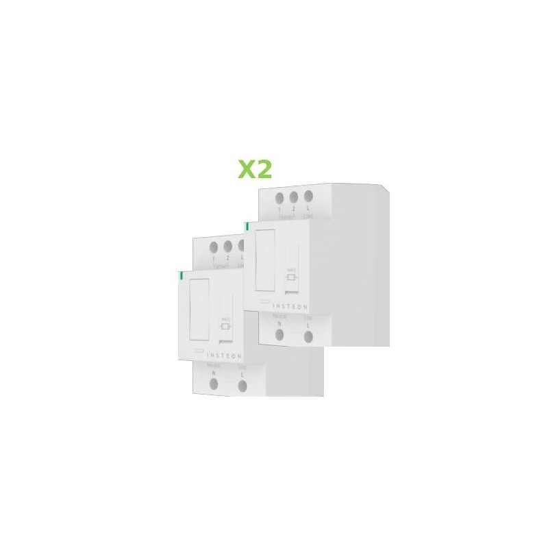 Pack 2x Insteon Módulo On-Off para carril Din en cuadro eléctrico. DIN Relay
