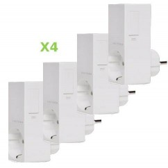 Pack 4x Insteon Módulo de enchufe para control de iluminación regulable. Plug-in dimmer