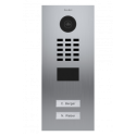 Videoportero IP Doorbird empotrable de acero inoxidable con dos botones conectado a internet D2102V
