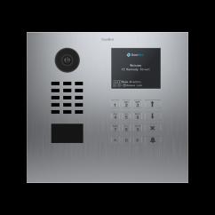 Videoportero IP Doorbird D21DKH, multipropietarios conectado a internet