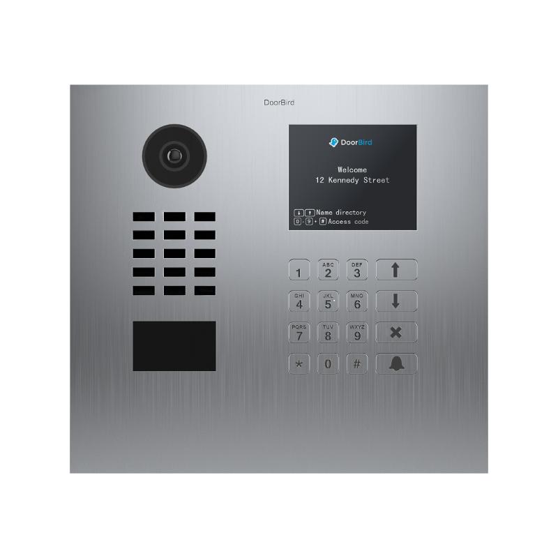 Videoportero IP Doorbird empotrable de acero inoxidable multipropietarios conectado a internet D21DKH