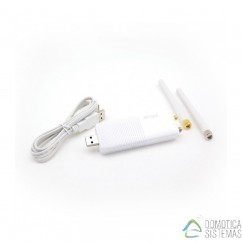 Interfaz RFPLAYER USB Bidireccional con receptor y emisor de 433 MHz y 868 MHz para multiples equipos (Somfy,RTS,,X10...)