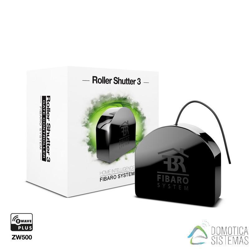 Micromódulo Roller Shutter 3 de Fibaro para control de persianas, estores, toldos y puertas de garaje Z-Wave Plus