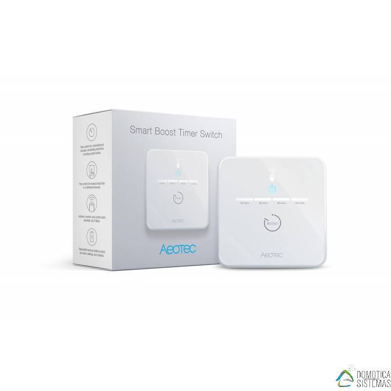 Temporizador Aeotec Smart Boost Timer Switch Z-Wave