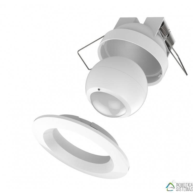 Sensor de movimiento exterior Philio con marco empotrable redondo