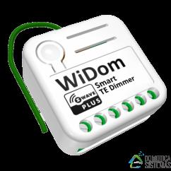 Micromódulo wiDom Dimmer regulador con medidor de potencia integrado con medidas de consumo. Z-Wave Plus