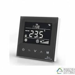 Termostato empotrable (negro) para Fan-Coil MCO HOME de aire acondicionado centralizado de cuatro tuberías Z-wave Plus