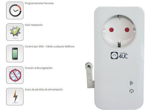 Controlador domótico para calefaccion por sms